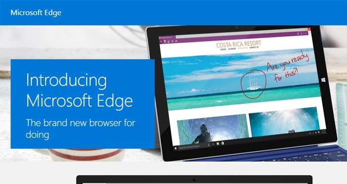 Windows10用の新ブラウザはEdge