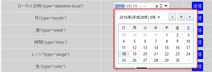 Google Chromeでdatetime-localを表示した場合